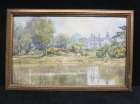 S. Key Signed Watercolor C. 1900s