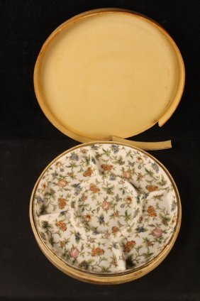 Mm Japan Handpainted Floral Dish In Box