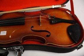 Violin, Bow, Two Cases