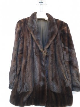 Black Mink Coat Daco Clips