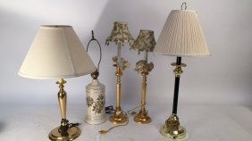 Group Lot Of Table Lamps