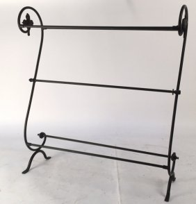 Wrought Iron Towel Rack