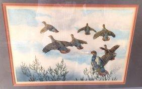 Pencil Signed Bird Print