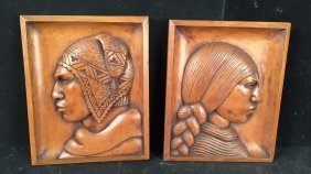 Natives In Profile Wood Wall Art