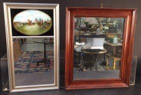 2 Vintage Mirror Pier And Wood