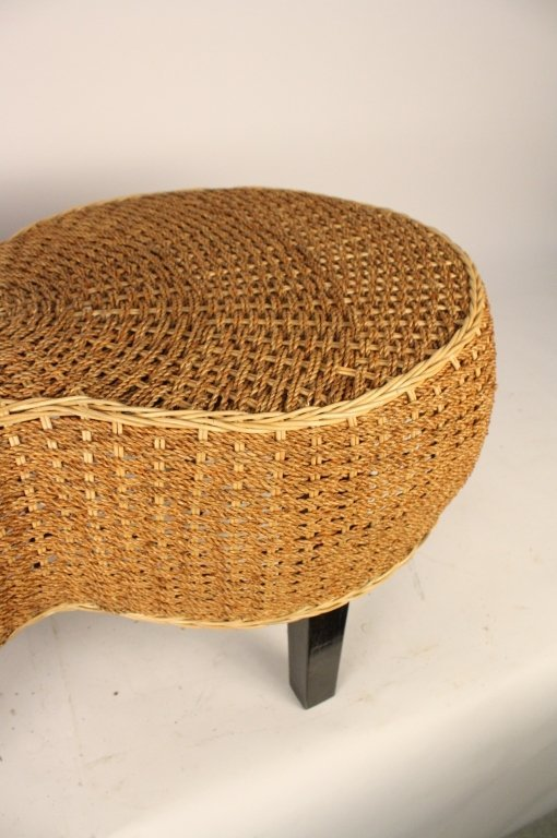 Kidney Shaped Woven Ottoman Coffee Table Lot 445