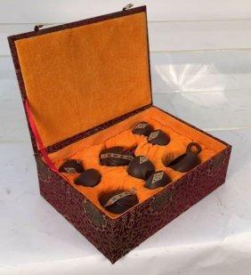 Asian Ceramic Tea Set In Original Box