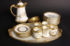 Art Nouveau Gilded Limoges Tea Set