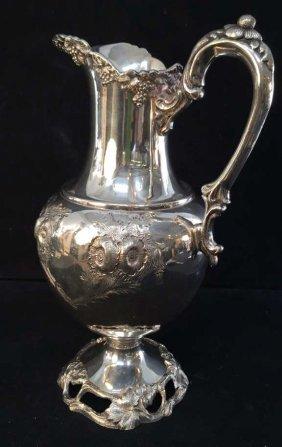 Sheffield Victorian Silver Plate Pitcher