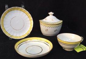 Group Lot Antique Cup/saucer, Tureen & Saucer/dish