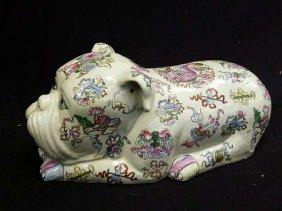 Asian Ceramic Pottery Foo Dog