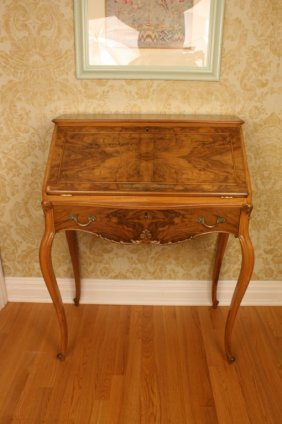 Antique French Style Ladies Writing Desk Dropfront