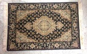 Handmade Oriental Black Wool Rug Handmade Oriental