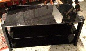 Tempered Glass Three Tier Tv Table Three Tier Black