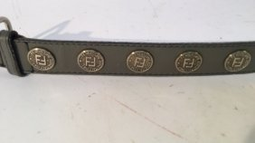 Grey Woman's Fendi Belt Grey Woman's Fendi Belt With A