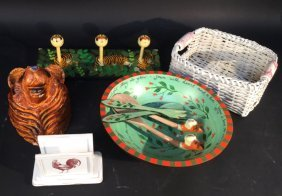 Group Lot Decorative Mixed Wooden Pieces Decorative