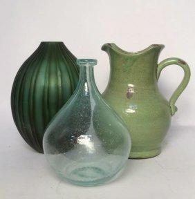 Green Vase Trio