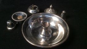 Antique Victorian Silver Carry Candle Holder