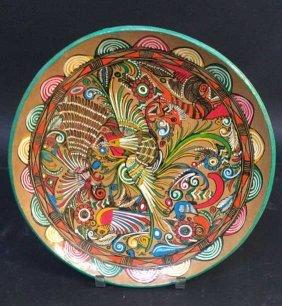 Painted Pottery Plate Painted Pottery Plate Measuring