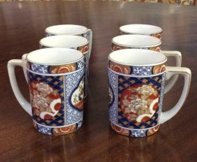 Asian Pottery Purchased In Japan Set Of 6 Asian Coffee