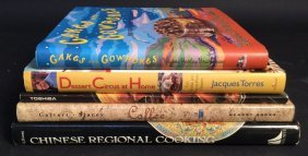 Chinese, Coffee, Toshiba, & Dessert Books 5 Cook Books,