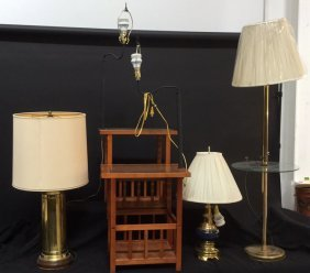 5 Piece Lighting Group Lot A Pair Of Mid Century Modern