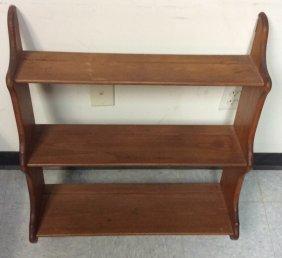 Medium Shade Three Tier Shelf Medium Shade Wood Three