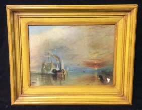 Fighting Termeraire By Turner Print On Board Fighting