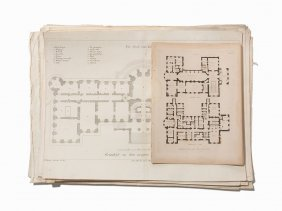 58 English & German Engraved Architectural Plates, 18th