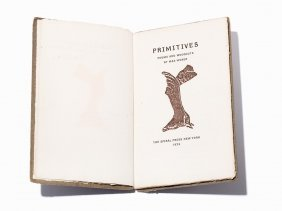 Max Weber, Primitives: Poems And Woodcuts, Signed, Ny,
