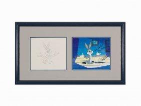 Warner Bros, 'bugs Bunny', Production Cel & Drawing,