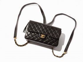 Chanel, Black Quilted Leather Single Flap Backpack,