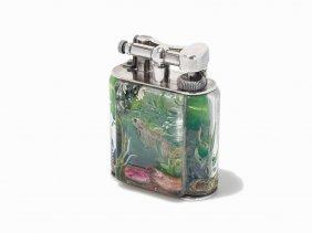 Dunhill, Rare Aquarium Table Lighter, England, Ca. 1955
