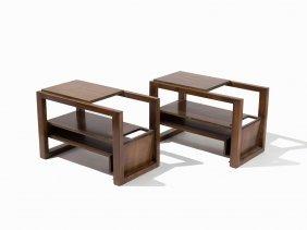 Attrib. Paul Laszlo, Pair Modern End Tables, Ca. 1965