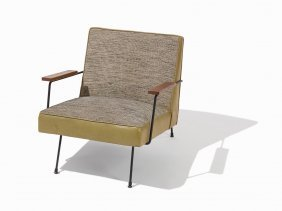 Mid-century Leather & Upholstery Infinity Chair, Usa