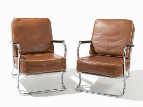 Kem Weber For Lloyd Loom, Pair Lounge Chairs, Usa, Ca.