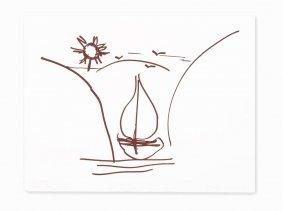 Jeff Koons, 'untitled (antiquity Drawing)', Foilstamp,