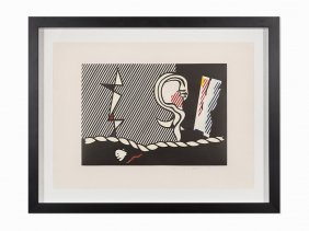 Roy Lichtenstein, 'figures With Rope', Lithograph, 1978