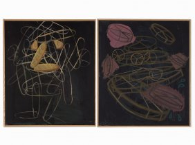 Charlie Hammond, Two Paintings, Oil On Canvas, 2006-7
