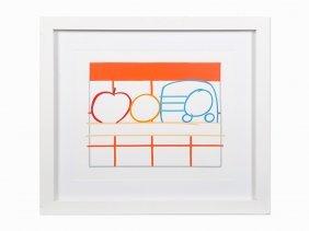 Tom Wesselmann, 'still Life With Apple, Orange And