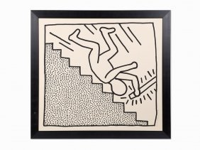 Keith Haring, 'blueprint Drawing: One Plate',