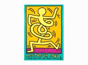 Keith Haring, Poster For The Montreux Jazz Festival,