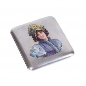 Russian Silver Cigarette-case.e. Cheryatov, Lorie