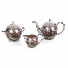 Russian Silver Tea Set. Makers Mark Of Nikolay