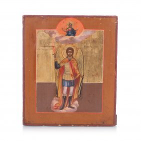 Russian Icon Of St. Mikhail The Warrior.