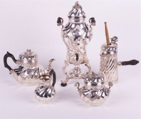"""French Silver Service Of 5 Pieces.""""cardeilhac""""."""
