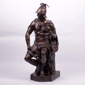 """Brozne Figure. """"le Courage Militaire""""."""