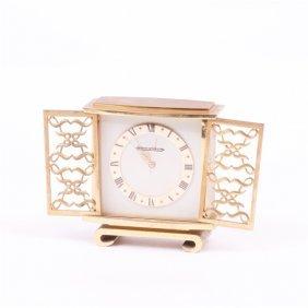 """Desk Clock """"jaeger Le Coultre""""."""