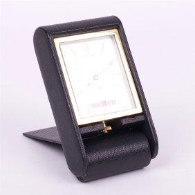 """Desk Mechanical Clock """"jaeger Le Coultre""""."""