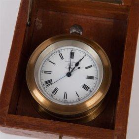 Marine Silver Chronometer Watch Ulysse Nardin.